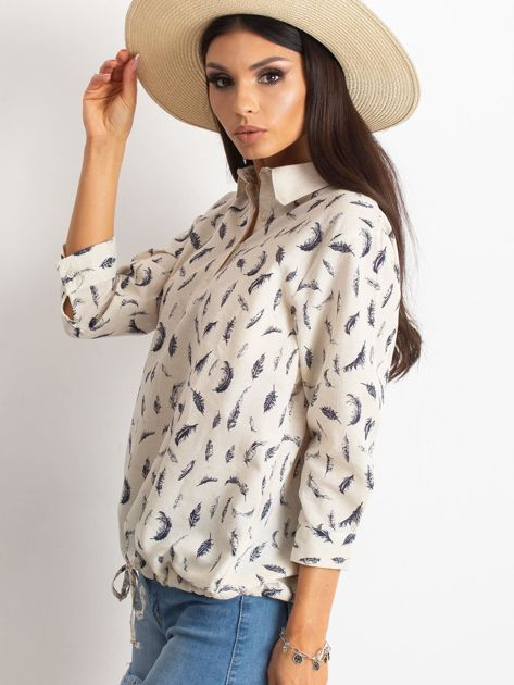 Beżowa bluzka Unfussy                              zdj.                              3