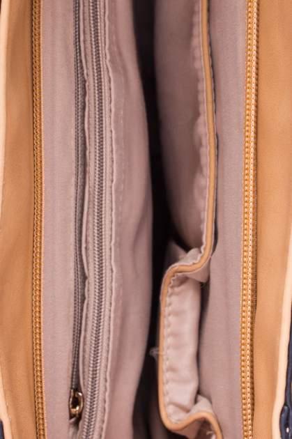 Beżowa dziurkowana torba shopper z portfelem                                  zdj.                                  4
