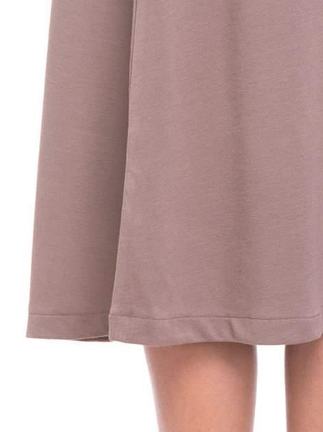 Beżowa elegancka spódnica midi o rozkloszowanym kroju                                  zdj.                                  6