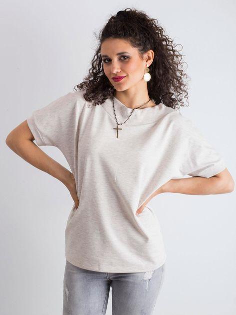Beżowa melanżowa bluzka Lemontree                              zdj.                              1