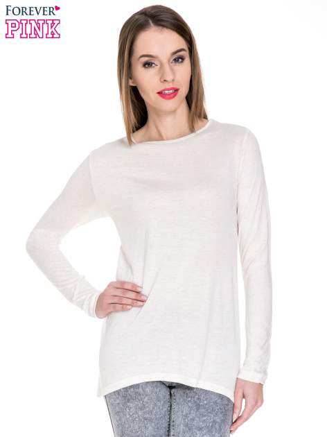 Beżowa melanżowa bluzka z dłuższym tyłem