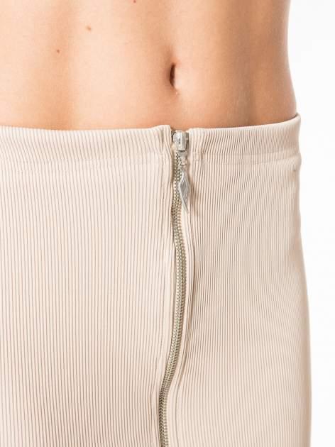 Bezowa spódnica midi z suwakiem z przodu                                  zdj.                                  10