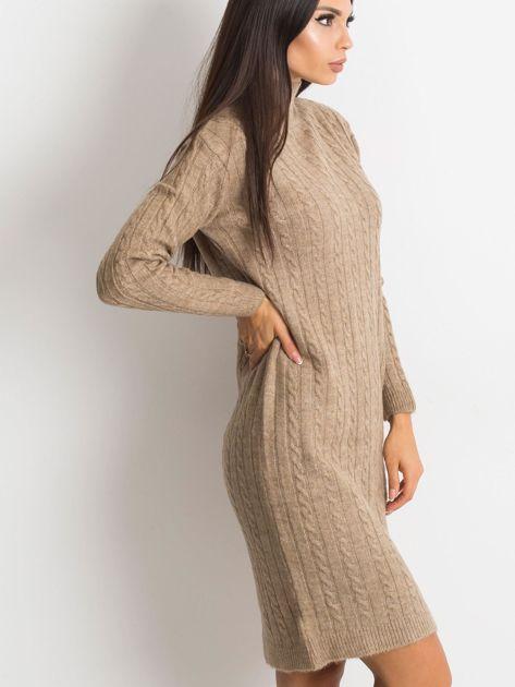 Beżowa sukienka Evermore                              zdj.                              3