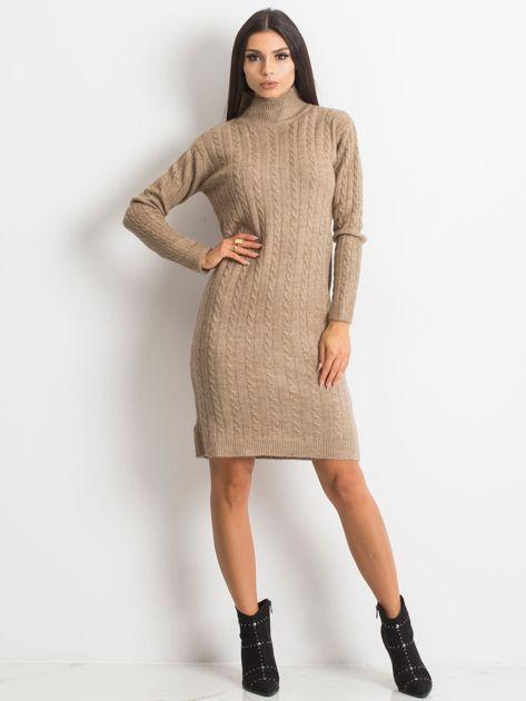 Beżowa sukienka Evermore                              zdj.                              4