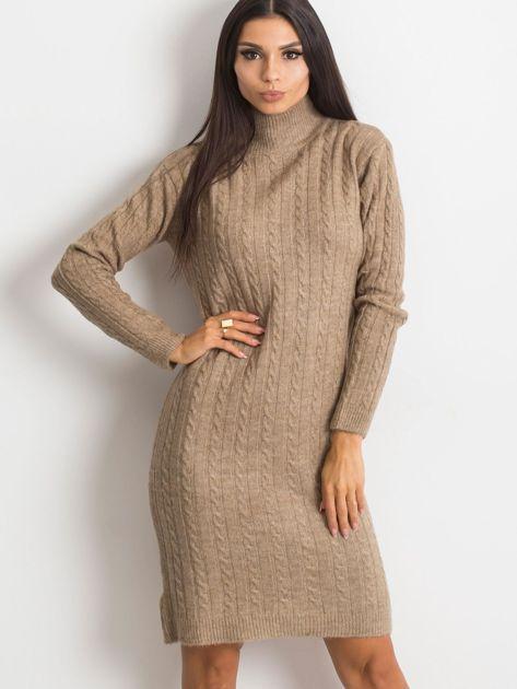 Beżowa sukienka Evermore                              zdj.                              1