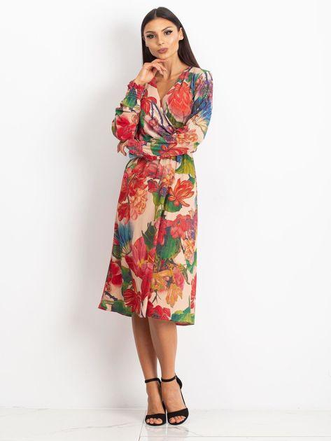 Beżowa sukienka Light                              zdj.                              4