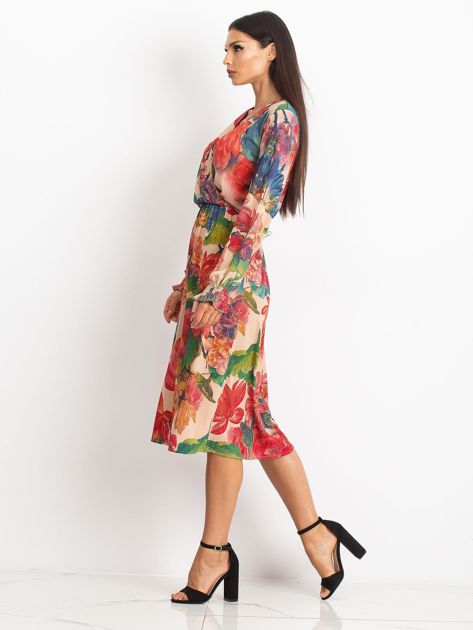 Beżowa sukienka Light                              zdj.                              3
