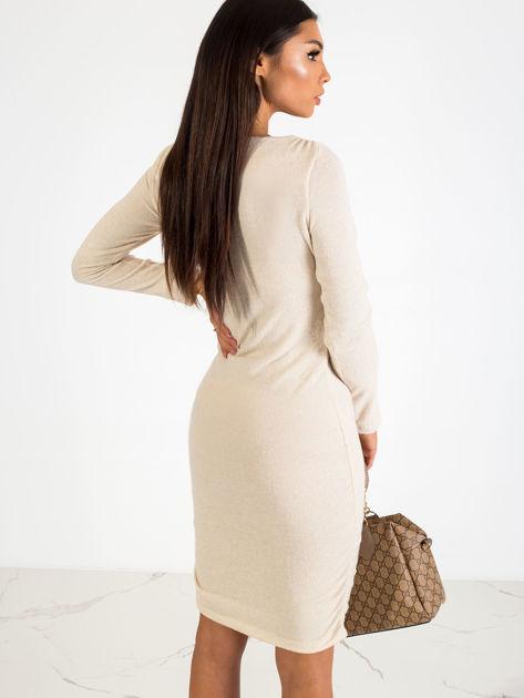 Beżowa sukienka Swan                              zdj.                              2