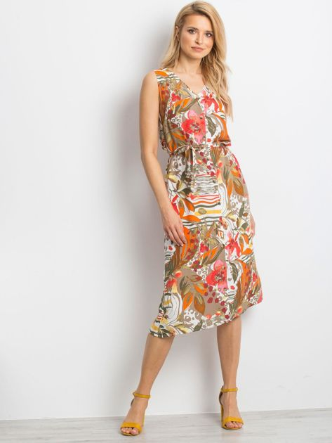 Beżowa sukienka Tonal