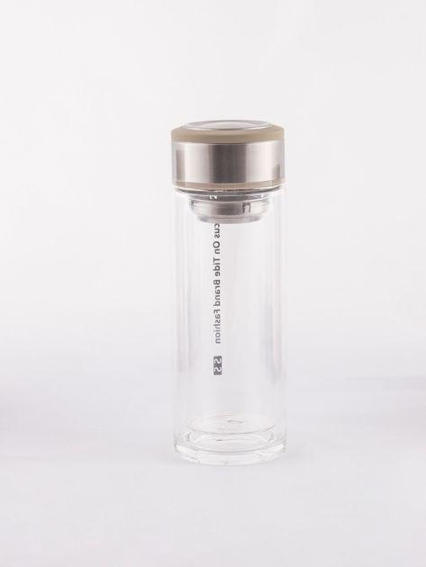 Beżowa szklana butelka z sitkiem                              zdj.                              5