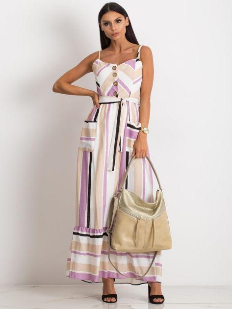 Beżowa torba damska z ekoskóry                              zdj.                              5