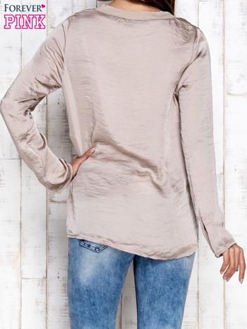 Beżowa warstwowa bluzka oversize                                  zdj.                                  2