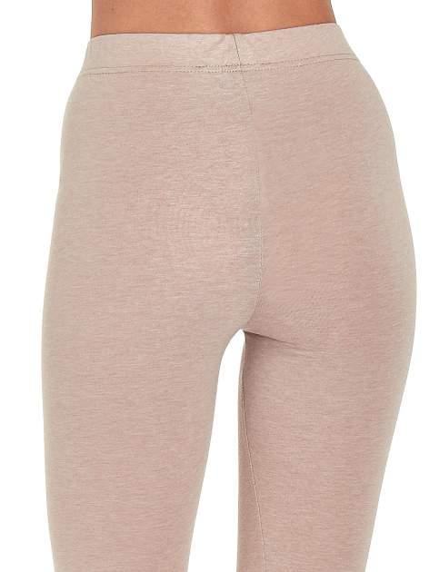 Beżowe melanżowe legginsy damskie basic                                  zdj.                                  6