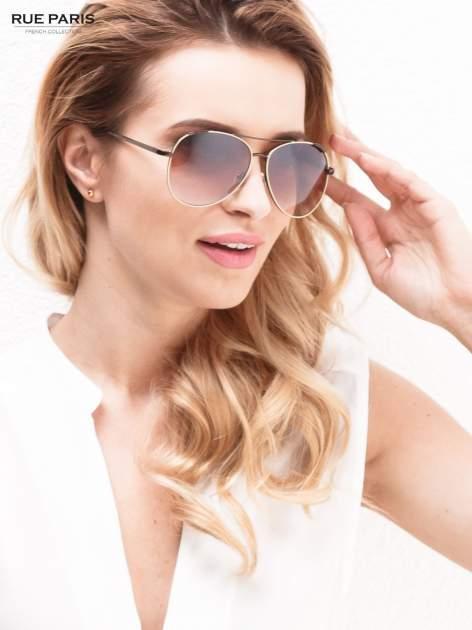 Beżowe pilotki -okulary przeciwsłonecznei typu AVIATOR filtry UV,normy CE                                  zdj.                                  1