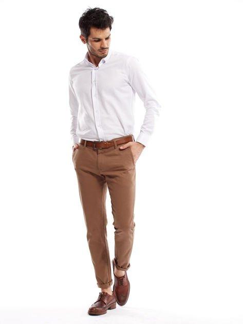 Beżowe spodnie męskie chinos                                  zdj.                                  11