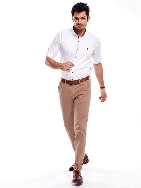 Beżowe spodnie męskie chinosy                              zdj.                              11