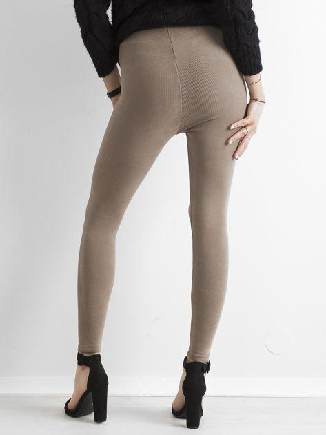 Beżowe sztruksowe legginsy                              zdj.                              2