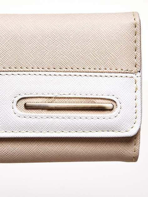 Beżowy portfel z jasnym wykończeniem                                  zdj.                                  6