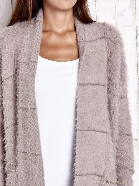 Beżowy sweter ze złotymi suwakami                                  zdj.                                  6