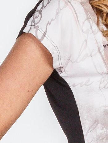 Beżowy t-shirt z nadrukiem tygrysa                                  zdj.                                  5