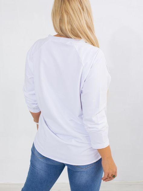 Biała bluza plus size Vacay                              zdj.                              2