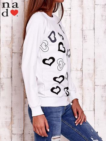 Biała bluza w serduszka                                  zdj.                                  3