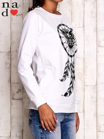 Biała bluza z motywem sowy i łapacza snów                                  zdj.                                  4