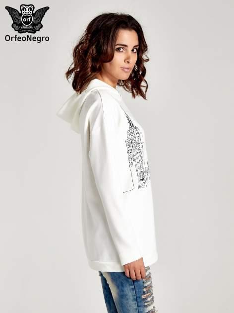 Biała bluza z nadrukiem NEW YORK                                  zdj.                                  3