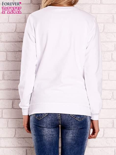 Biała bluza z nadrukiem łapacza snów                                  zdj.                                  4