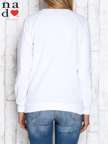 Biała bluza z napisem SMILER                                  zdj.                                  4