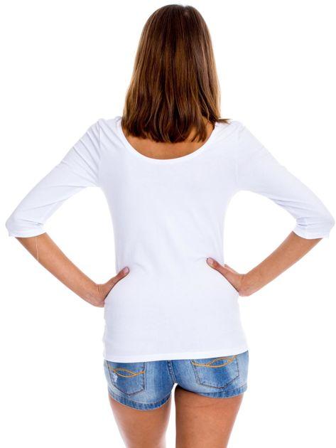 Biała bluzka damska basic                              zdj.                              2