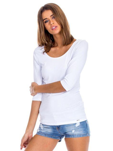 Biała bluzka damska basic                              zdj.                              6