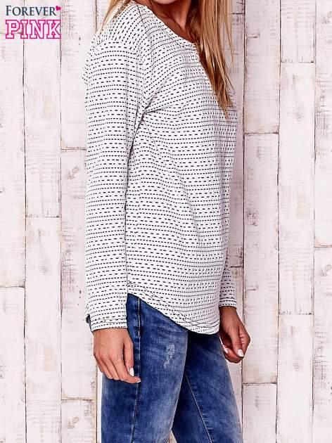 Biała bluzka w drobne wzorki                                  zdj.                                  3