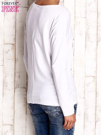 Biała bluzka z aplikacją w kształcie sowy                                  zdj.                                  4