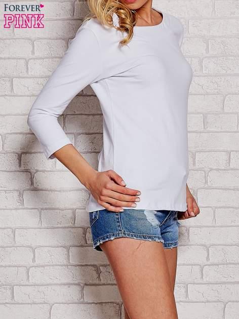 Biała bluzka z kokardką z tyłu                                  zdj.                                  3