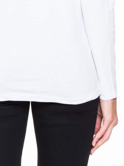 Biała bluzka z koronkową wstawką na rękawach i z tyłu                                  zdj.                                  8