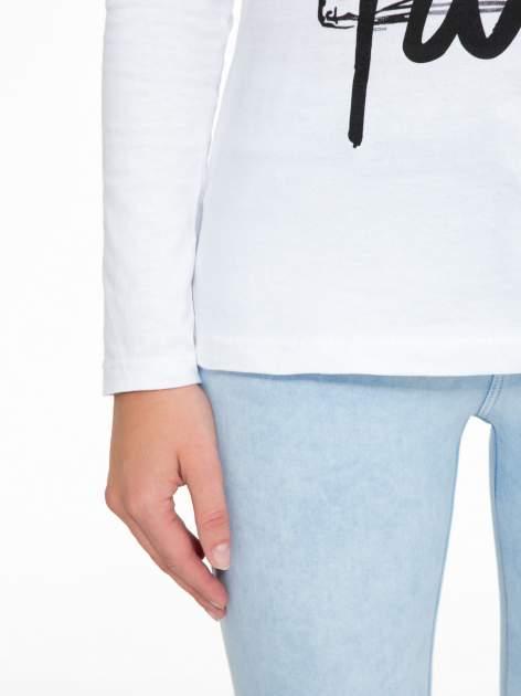 Biała bluzka z motywem Paryża                                  zdj.                                  8