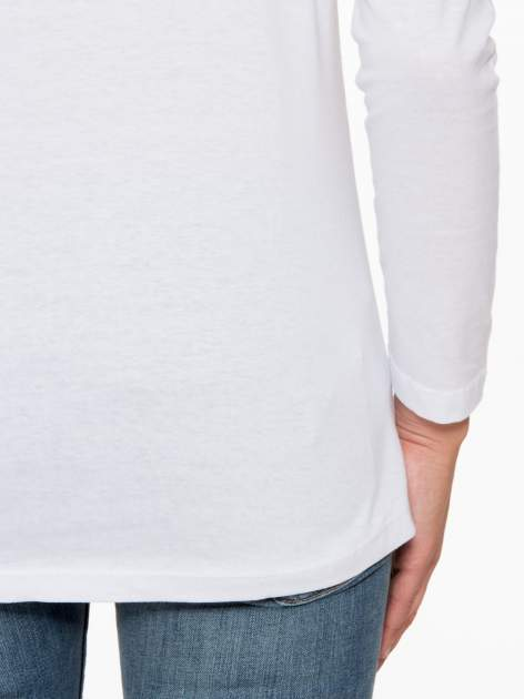 Biała bluzka z nadrukiem Marylin Monroe                                  zdj.                                  10