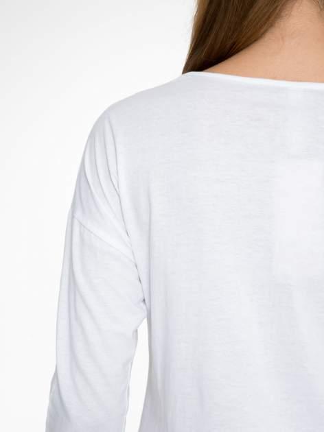 Biała bluzka z napisem MAKE IDEAS HAPPEN                                  zdj.                                  9