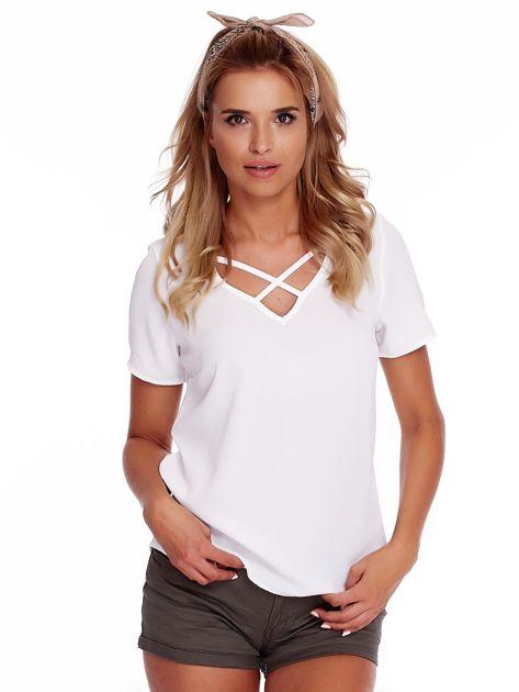 Biała bluzka z paseczkami                              zdj.                              1