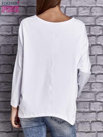 Biała bluzka z rękawem nietoperz                                  zdj.                                  4