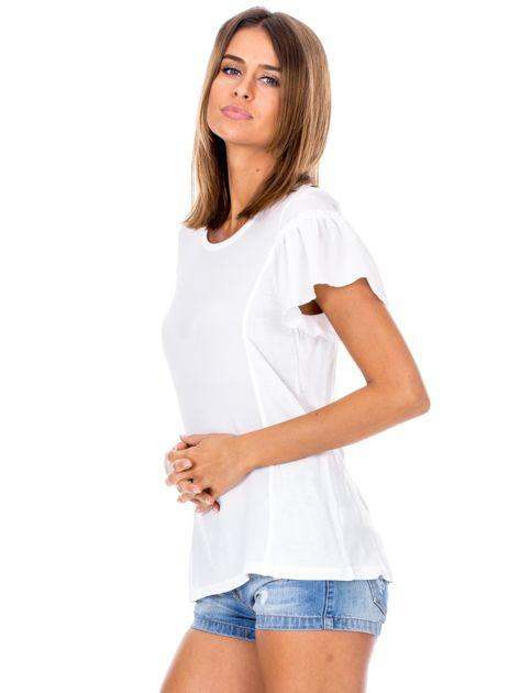 Biała bluzka z szerokimi rękawami                              zdj.                              5