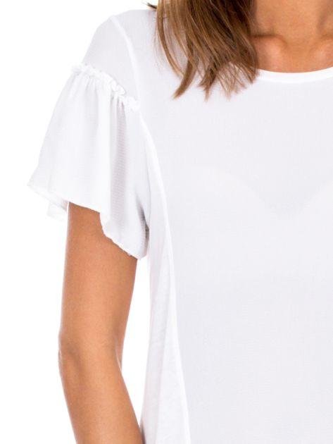 Biała bluzka z szerokimi rękawami                              zdj.                              6