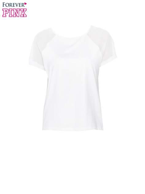 Biała bluzka z transparentnymi rękawkami                                  zdj.                                  5