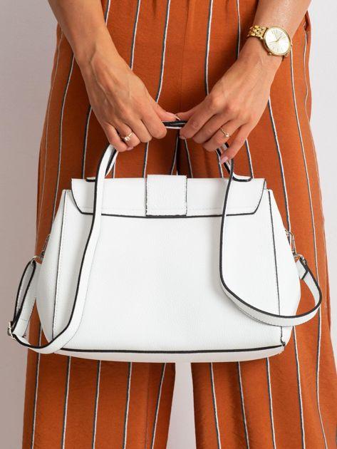 Biała damska torebka skórzana                              zdj.                              3