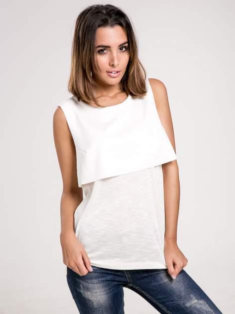 Biała dwuwarstwowa bluzka