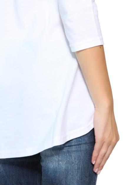 Biała gładka bluzka z dłuższym tyłem                                  zdj.                                  10