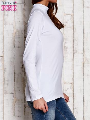 Biała gładka bluzka z półgolfem                                  zdj.                                  3
