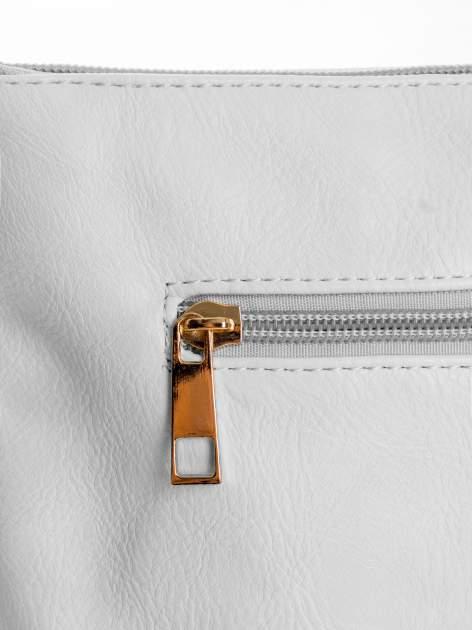 Biała kopertówka z dżetami napis LUCY WORLD                                  zdj.                                  5