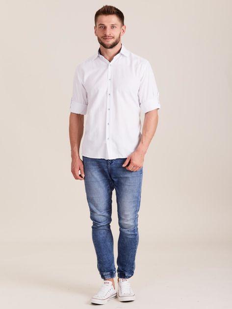 Biała koszula męska o regularnym kroju                              zdj.                              4